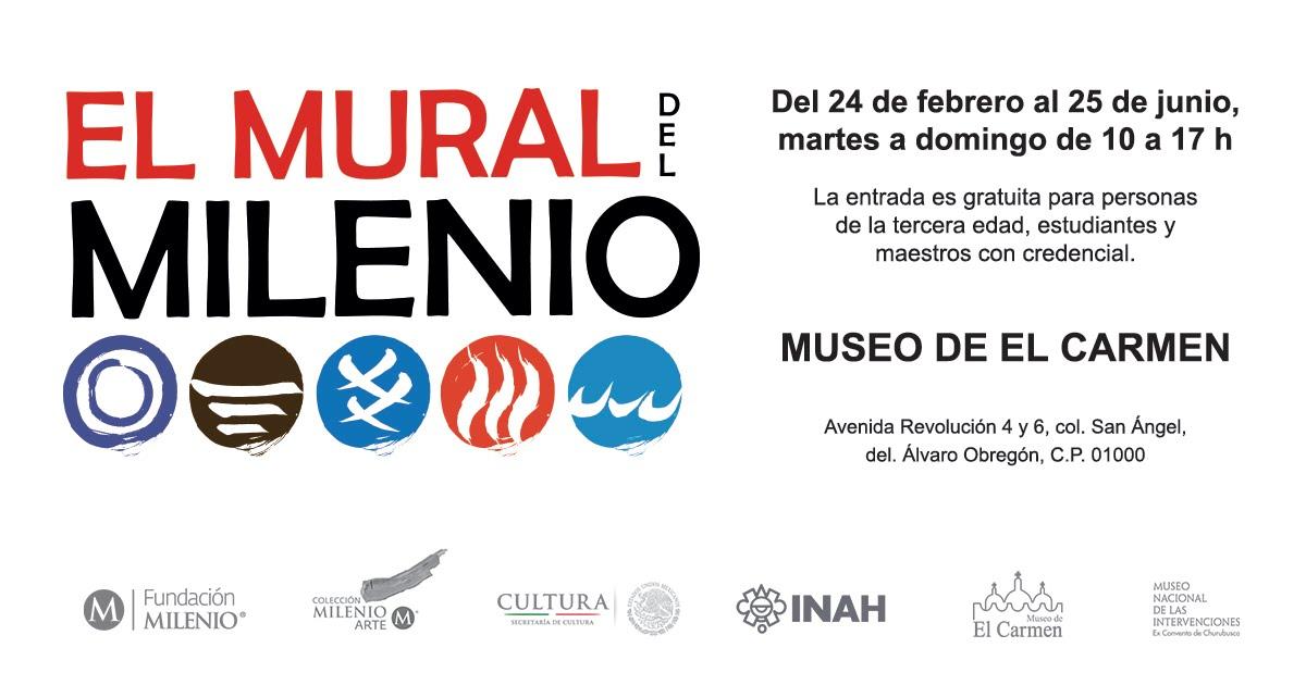 El Mural del Milenio en el Museo de El Carmen de la Ciudad de México