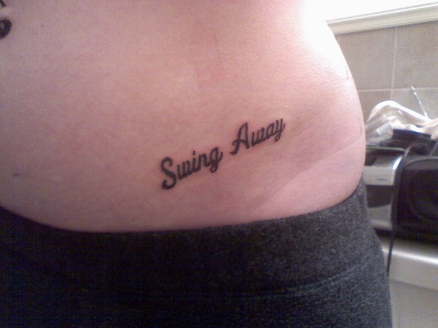 My Tattoo Site: Tattoo... Quote Tattoos On Side Hip
