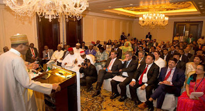 President Buhari with Indian CEOs