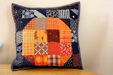 Patchwork Pumpkin block and tablerunner