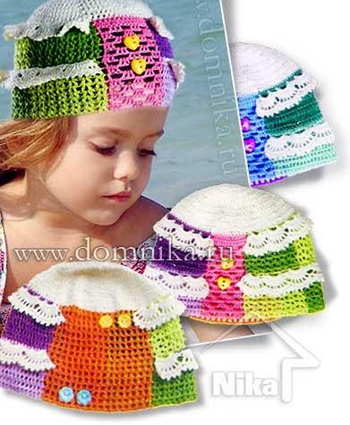 Волшебные петельки: Летняя детская шапочка крючком