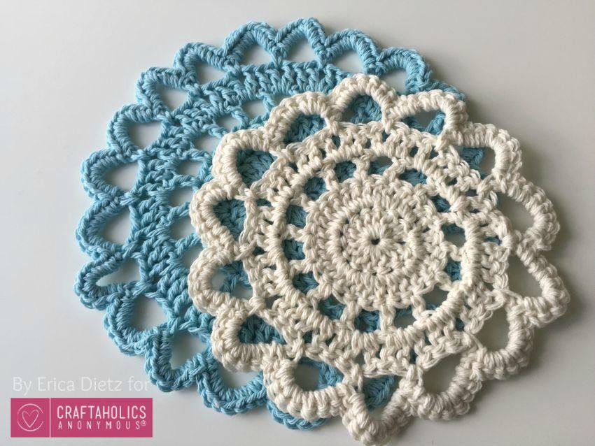 5 Little Monsters: Crocheted Doily Trivets on Craftaholics ...