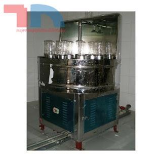 Máy rửa phun tráng chai tự động, máy rửa các loại chai PET, chai thủy tinh, máy