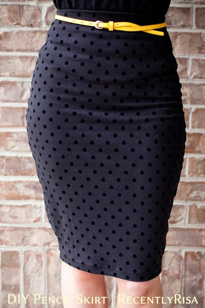 recentlyrisa diy pencil skirt