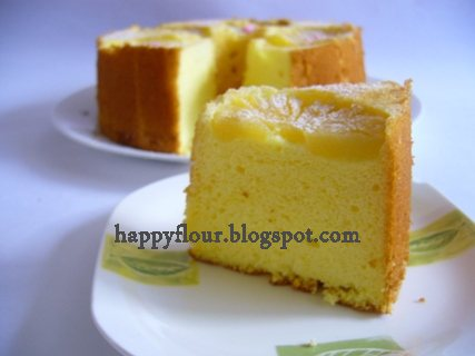 Happy Flour Pineapple Upside Down Chiffon Cake