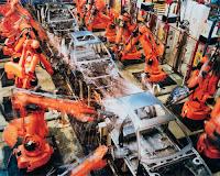 Üretim, Otomobil Fabrikasında Otomasyon, Robot Kollar