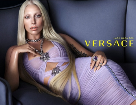Lady Gaga by Mert & Marcus for Versace SS 2014