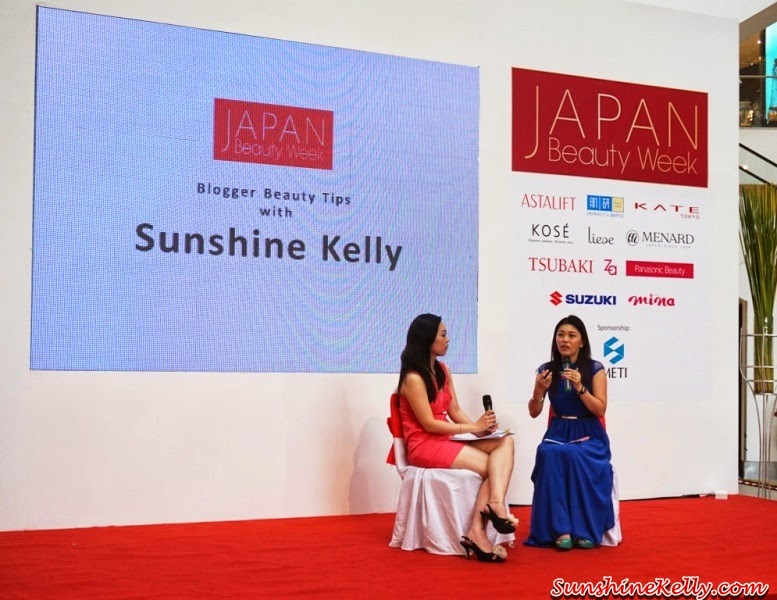 Japan Beauty Week, on stage sharing, presentation, demo, sunshine kelly, beauty tips, beauty blogger
