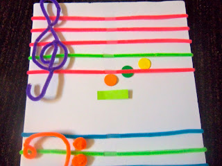 piano keynotes pipe cleaner staff. Black Bedroom Furniture Sets. Home Design Ideas