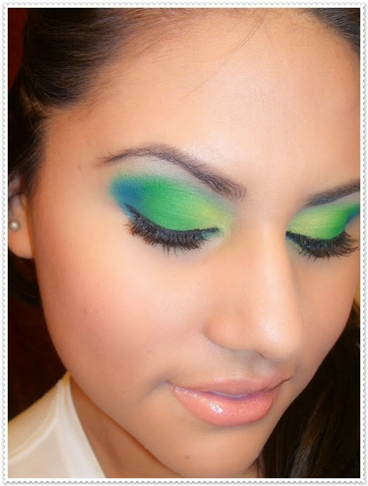 Yeşil Renk Tonlarında Göz Makyaj Stilleri