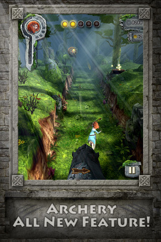 Screenshot showing archery feature.
