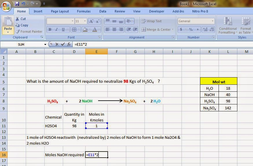 Chemineering Excel Tutorial 1 Mass Balance Calculation Using