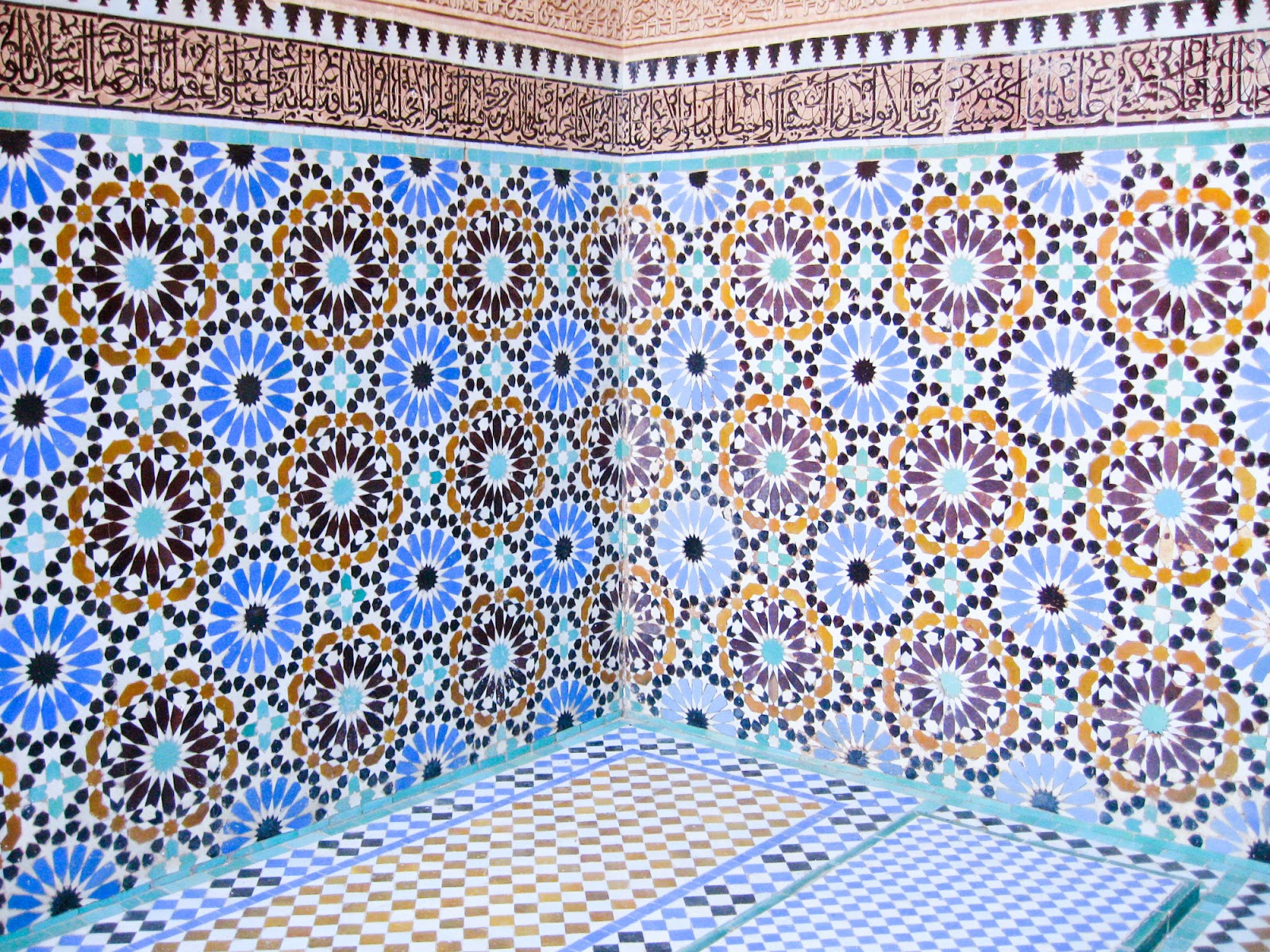 top tourist attractions of Marrkech, Morocco: moroccan tile pattern home decor and backsplash ideas