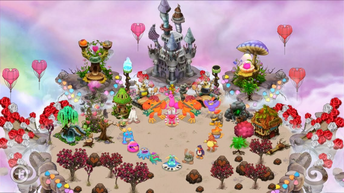 My Singing Monsters Air Island Valentines Day