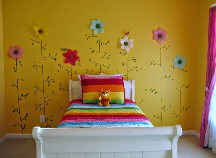 Desain Wallpaper Kamar Tidur Anak Perempuan