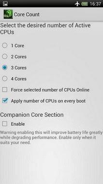 Tegra Overclock android apk - screenshoot