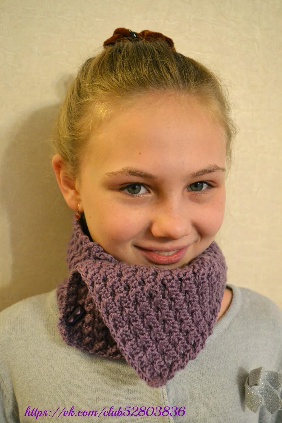 шарф,снуд шарф на пуговках,вязание,стильно