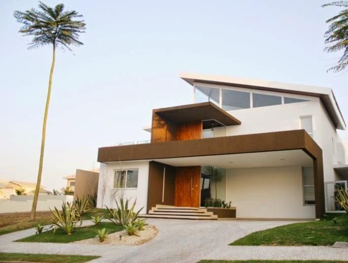 Fachadas de casas atuais holidays oo - Entradas de casas modernas ...