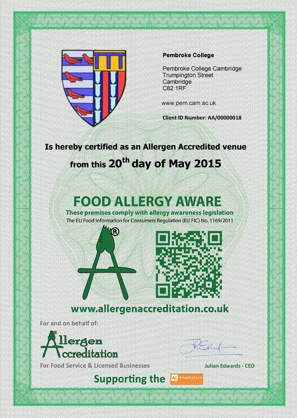 ALLERGEN UK ACCREDITED