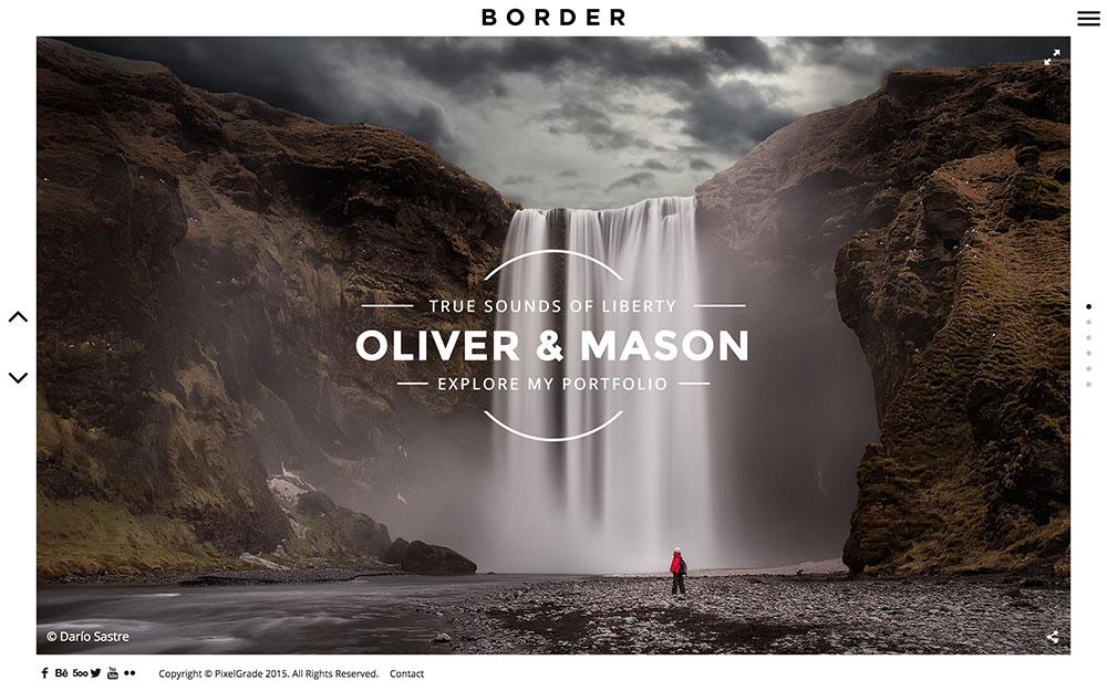 border-photography-theme