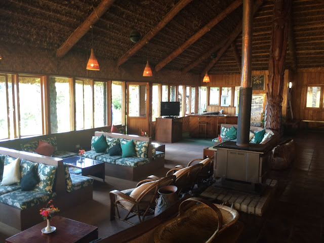The main social area at Ambua Lodge - Tari, Papua New Guinea