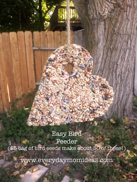 easy bird feeder craft everyday mom ideas