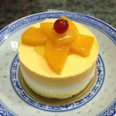 Made these mango and coconut mousse cakes not so long when I came back ...
