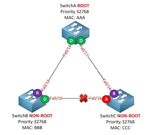 Réseau STP Root+bridge