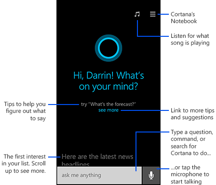 Cortana Virtual Assistant