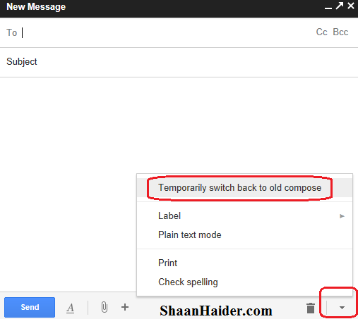 HOW TO : Switch to Old Gmail Compose Interface