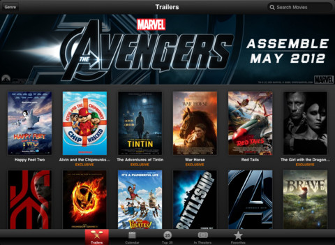 movie trailers for the new ipad 3