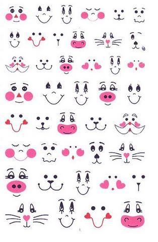 Moldes de olhinhos e boquinhas, olhos e bocas para imprimir e utilizar ...