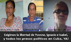 LIBERTAD INMEDIATA PARA LOS TRES OPOSITORES.