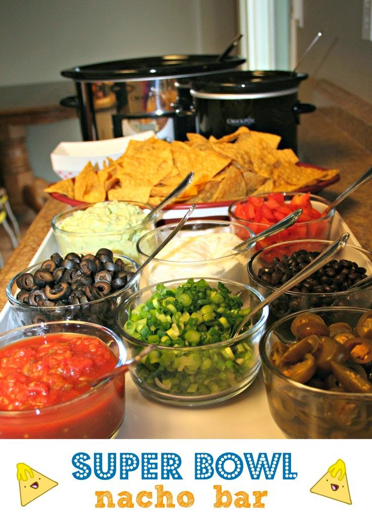 http://www.themagicalslowcooker.com/2013/01/21/super-bowl-nacho-bar/