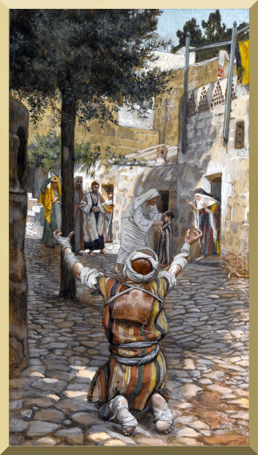 """Healing of the Lepers at Capernaum"" -- by James Tissot"