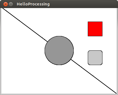 fill shapes with color in Processing