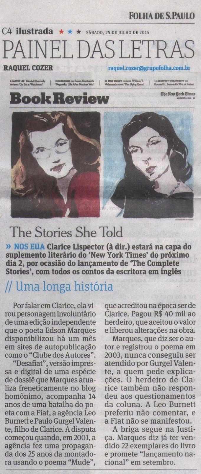Folha de S. Paulo - 25 de Julho de 2015