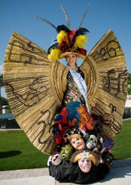 Photo of Miss Nicaragua 2011 Adriana Dorn with National Costume for Miss Universe 2011