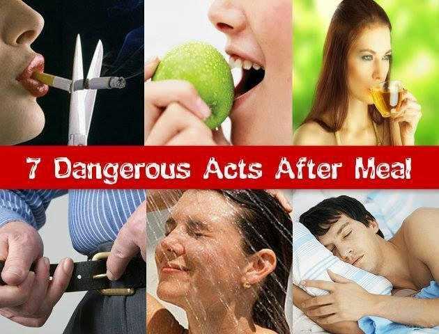 Dangerous Acts After Meal….MUST READ