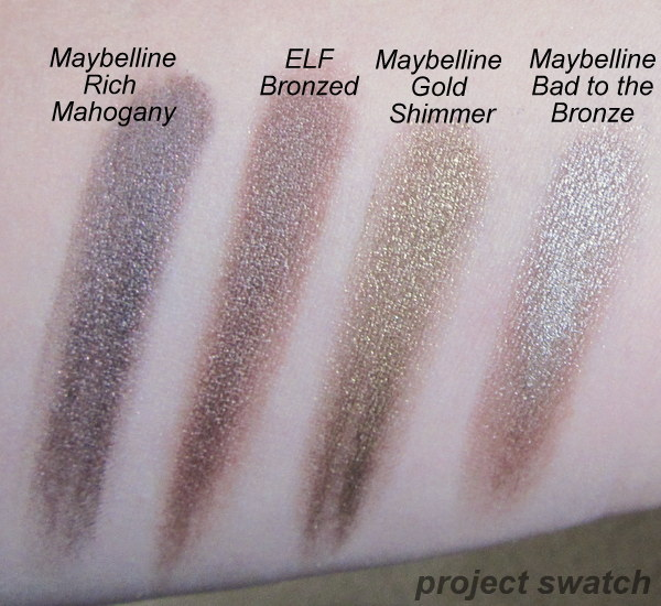 Comparison: ELF Bronzed, Maybelline Color Tattoos