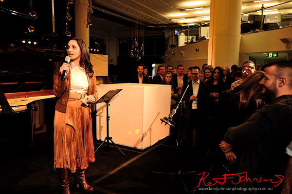 MC Yarmila Alfonzetti, Yellow Lounge, Sydney.