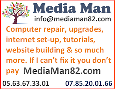 Media Man/ Andrew  tel 0563673301 and 0785200166