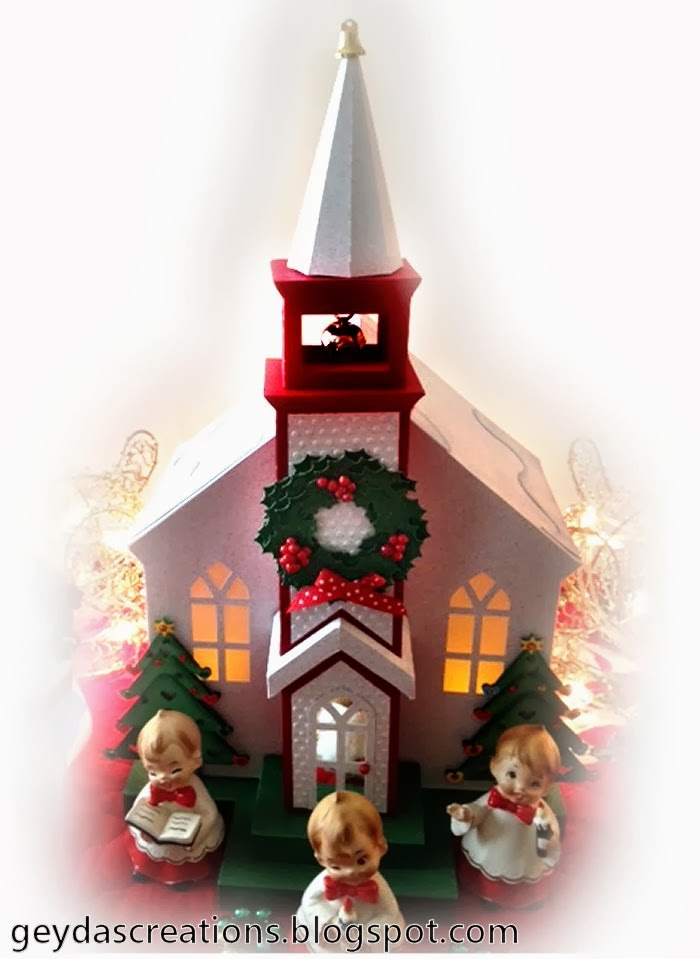 Craft Creations Silent Night Christmas 3D Church