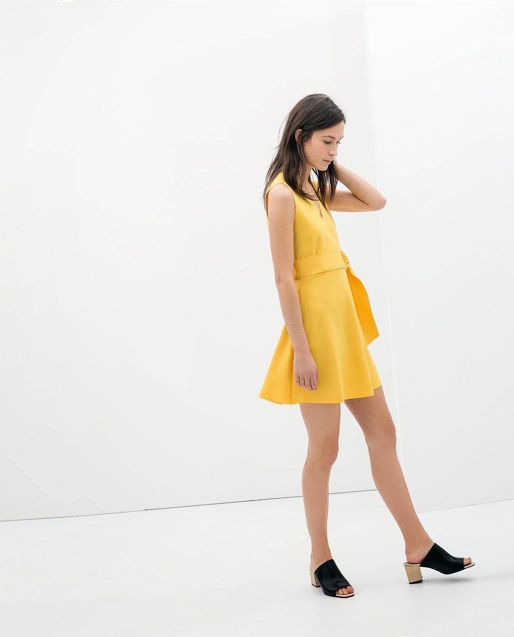 sarı kısa elbise