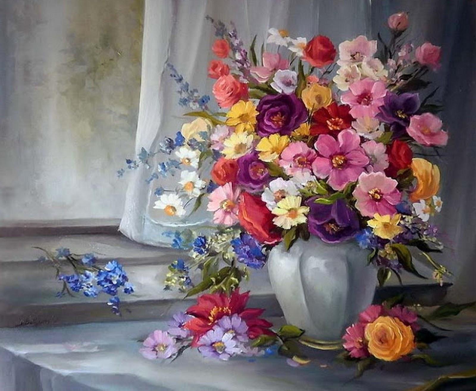 Pinturas cuadros lienzos bodegones galer a pintura al leo - Fotos y cuadros ...