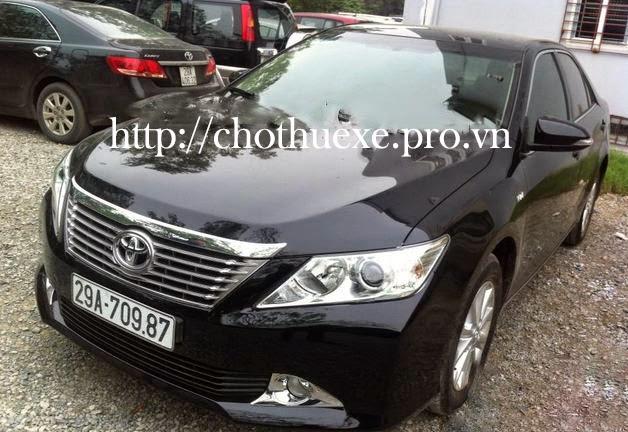 Cho thuê xe 4 chỗ Toyota Camry 2.5 G 2013  giá rẻ tại hà nội