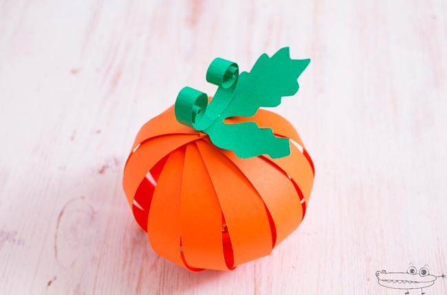 Especial Halloween: calabaza de papel