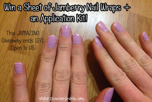 Director Jewels Jamberry Nail Wrap Review Giveaway