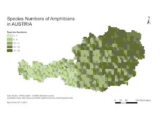 Using IUCN-Data, ArcMap 9.3 and R to Map Species Diversity