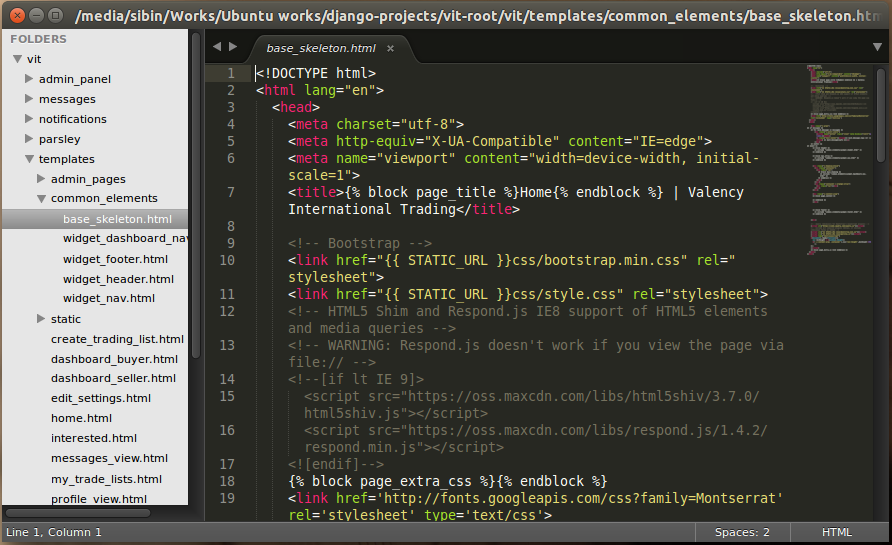 Sublime text editor 3